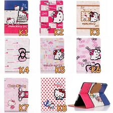 Cute Hello Kitty Card Holder PU Leather Case Cover iPad Air/5 Air 2/6 Mini 1 2 3