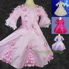 Girls Fancy Princess Victorian Vintage Costumes Party Dress Up Size 3-9 VD002