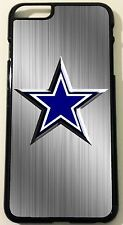 Iphone 6 Dallas Cowboys Brushed Aluminum Look Black Hard Case
