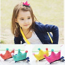 1Pcs Kid Girl Baby Crown Molding Hairpin Hair Clips Princess Barrette Ribbon TOP