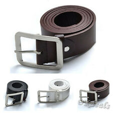 Fashion Mens Casual Dress Leisure Faux Leather Belt Buckle Waist Strap Belts LXF