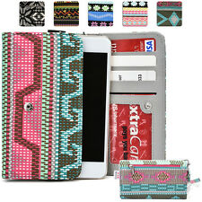 KroO ESPS-2 LG Aztec Patterned Protective Wallet Case Cover for Smart-Phones
