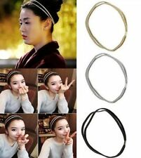 Beauty Simple Women Fashion Leather Woven Hair Band Double Braided Headband