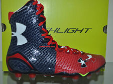 Under Armour Mens Highlight MC Football Cleats TEXAS Limited Edition Red/Blue