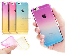 Ombre Gradually Silicone TPU Clear Soft Case Cover For iPhone 4/4S 5/5S 6/ 6Plus