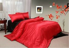 16.5MM Pure Silk Duvet Cover Fitted Sheet Pillowcases 4pcs Set