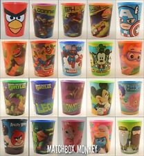 Re-Usable Plastic 16 oz Party Favor Cups Kids Theme Birthday Cups BPA Free safe