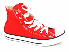 CONVERSE Yths Chuck Taylor All Star Hi tessuto RED rosso 3J232C sneakers