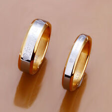 Hot Romantic Jewelry Wedding Ring Forever Love Couple Gold Rings