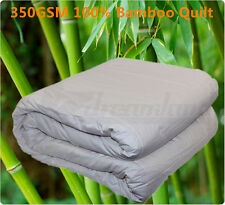 350 OR 500 GSM 100% Bamboo Quilt Doona Cotton Japara  Cover Machine Washable