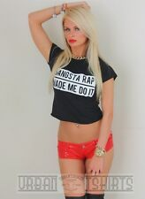 GANGSTA RAP MADE ME DO IT  CROP TOP / T-SHIRT ,Hip-Hop Clothing  Premium Quality