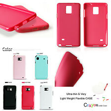 Pastel Color Slim Flexible Silicon Socket Fitted Case Cover For Pantech VEGA