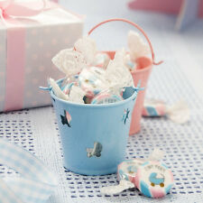 TINY FEET BLUE PINK BABY SHOWER CHRISTENING PARTY FAVOUR PAILS TEA LIGHT BUCKETS