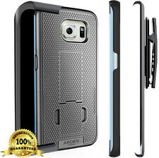 Arden Shell Holster Belt Clip Combo Kickstand Case For Samsung Galaxy S6 EDGE