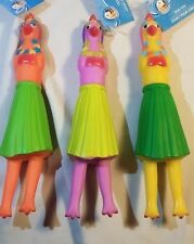"""Vinyl Hula Girl Chicken Dog Toy 10"""" - Cool Squeaky Fetch Toy - Pick the Color"""