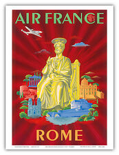 Rome Italy St. Peter's Basilica Vintage World Travel Art Poster Print