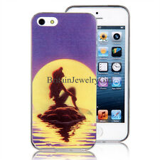 Ultra-thin Sunset Mermaid Pattern TPU Shell Cover Case for Iphone 5/5S/6/6Plus