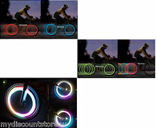 Bike Bicycle Wheel Spoke Tyre Bright Cool LED Light Lamp - Free Battery Included