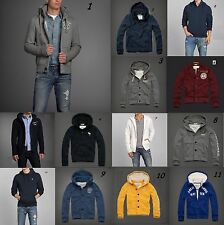 NWT Abercrombie & Fitch Men Heavy Winter Button Sherpa Hoodie Jacket sz S M L XL