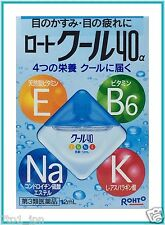 Rohto Cool 40 alpha Super Cool Vitamin Eyedrops Eye Drops 12ml from Japan