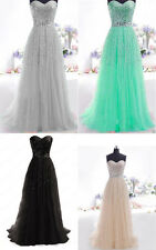 Sequins Chiffon Formal Prom Cocktail Party Gown Evening Long Bridesmaid Dress