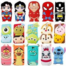 3D Cute Lovely Cartoon Silicone Soft Case Cover For Samsung Galaxy S6/5/4/3 Note