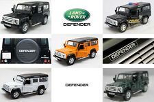 RMZ CITY DIECAST 1:36 LAND ROVER Defender Car WHITE BLACK GREEN ORANGE POLICE