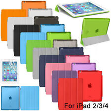 For iPad 2 3 4 Ultra Slim Magnetic Smart Matte transparent Cover Case
