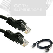 RJ45 CAT6 Ethernet Network Cable Black 5ft 15ft 25ft 30ft 50ft 100ft 200ft LOT