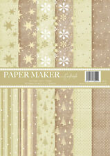 Craftstyle A4 Xmas Paper Pad - Neutral or Red/Green - 48 sheets