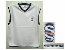 Surridge sleeveless fleece cricket jumper/vest, Cream/white, Sizes M, XL or XXL