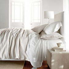 White Natural Fiber Pure Belgian Linen Duvet Cover Set-Pure Luxury French County