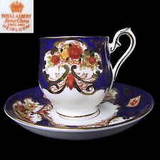 Royal Albert HEIRLOOM Duo  Demi Coffee Cup & Saucer 1st Eng c1940's
