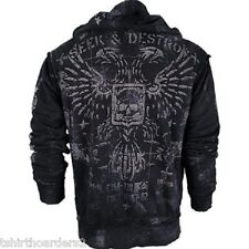AFFLICTION Mens Hoodie Sweat Shirt Jacket MIL SPEC Fight Biker MMA UFC S-3XL $88