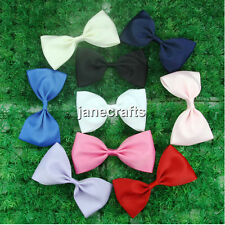 "9pcs Big 5.5"" Bowtie Hair Bow Clips Boutique Girls Baby Grosgrain Ribbon Mixed"