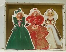 Vntg Hallmark Barbie Holiday Collection Greeting Cards In Original Christmas Box