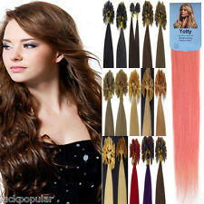 Pre Bonded Keratin Nail U Tipped Real Remy Human Hair Extensions 100S 18''0.5g/s
