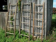 Antique Vintage Wood 6 Rung Ladder - Great New Country Colors