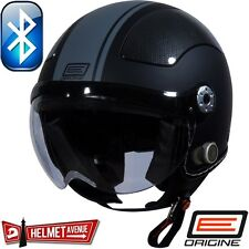 ORIGINE BLUETOOTH MATTE FLAT BLACK GREY OPEN FACE MOTORCYCLE HELMET DOT XS - XL