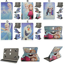 "360 Rotation Frozen Disney Cartoon Flip tablet case cover Universal 7"" 8"" 10"""