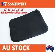 "10"" 11"" 12"" 13"" 15"" Soft Sleeve Carry Case Cover Bag For Tablet Laptop Notebook"