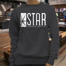 The Flash DC Barry Allen Laboratories Star Labs Womens Charcoal Sweatshirt