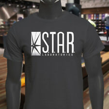 The Flash DC Barry Allen Laboratories Star Labs Mens Charcoal T-Shirt