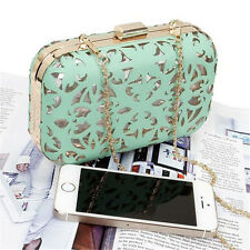Women Cut Out Faux Leather Covered See Through Clear Hard Plastic Fashion Clutch