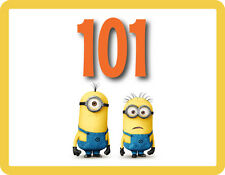 Despicable Me Minions - Wheelie Bin Number Stickers