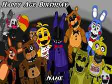 Five Nights at Freddies Edible Image Sheets Cake Toppers
