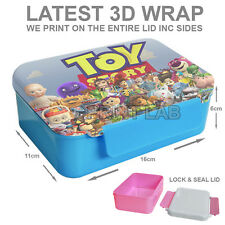 NEW PERSONALISED CUSTOM BOYS GIRLS KIDS LUNCH BOX YOUR IMAGE PHOTO LOGO TEXT