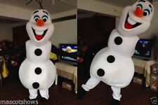 New Snowman Frozen Olaf Suit Adult Size Mascot Costume Fancy Party Dress