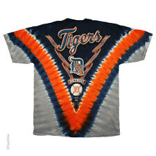 New  DETROIT TIGERS  Tie Dye V Dye T-Shirt MLB Licensed Apparel MAJESTIC