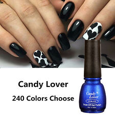 Candy Lover UV Gel Nail Polish Soak Off Shiny Gel Manicure UV LED Lamp Tips 8ml